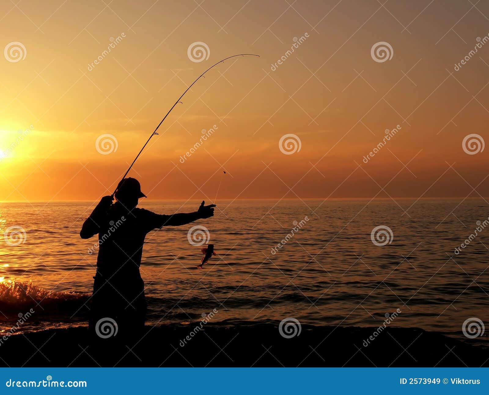 Fischer an der Dämmerung