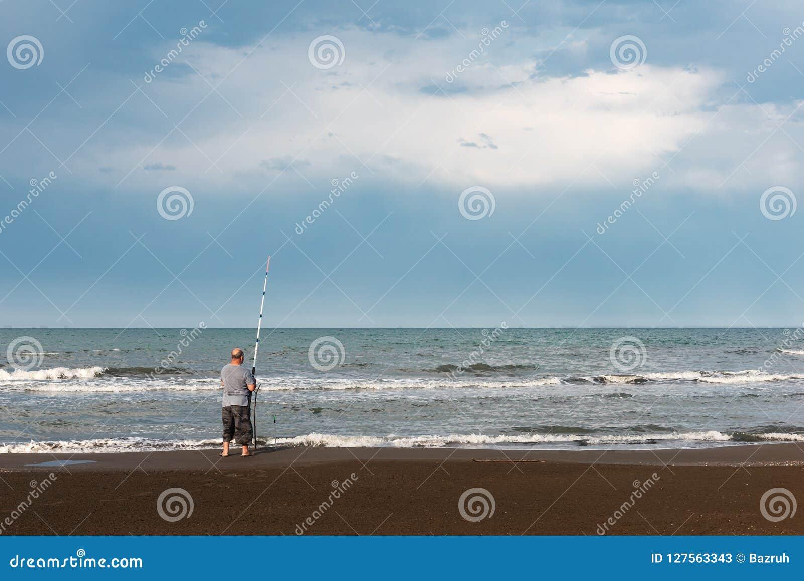 Fischer durch das Meer