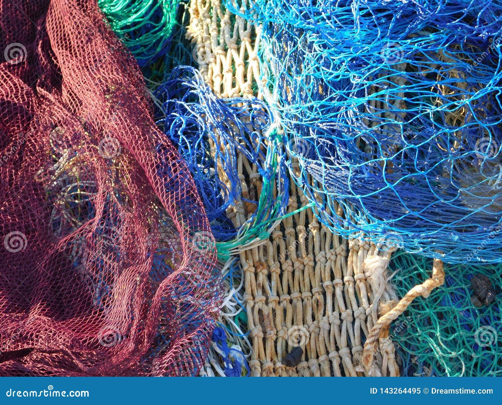 Fischernetze auf dem Dock