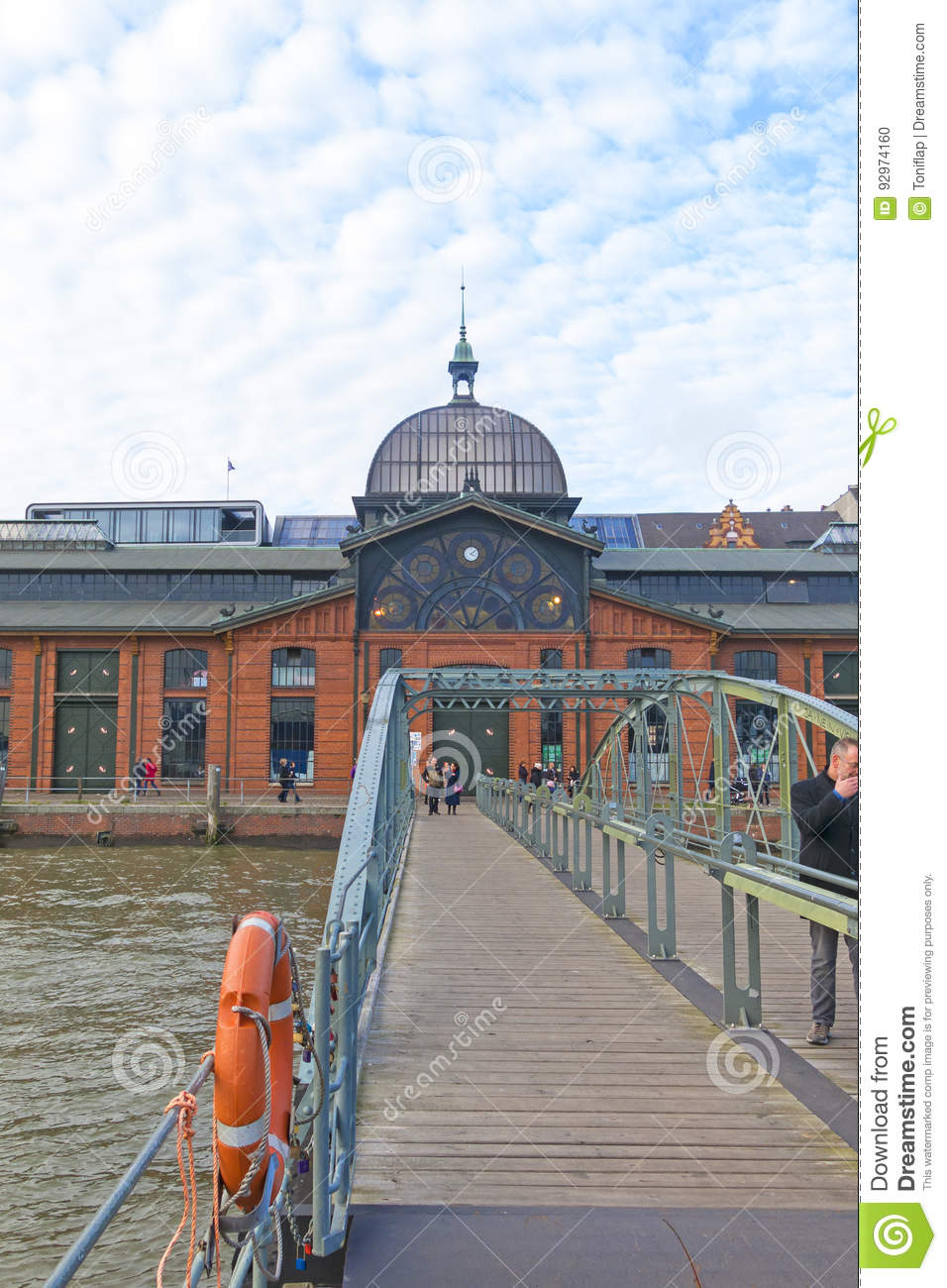 Stock photo hamburg germany riverside new - Editorial Stock Photo