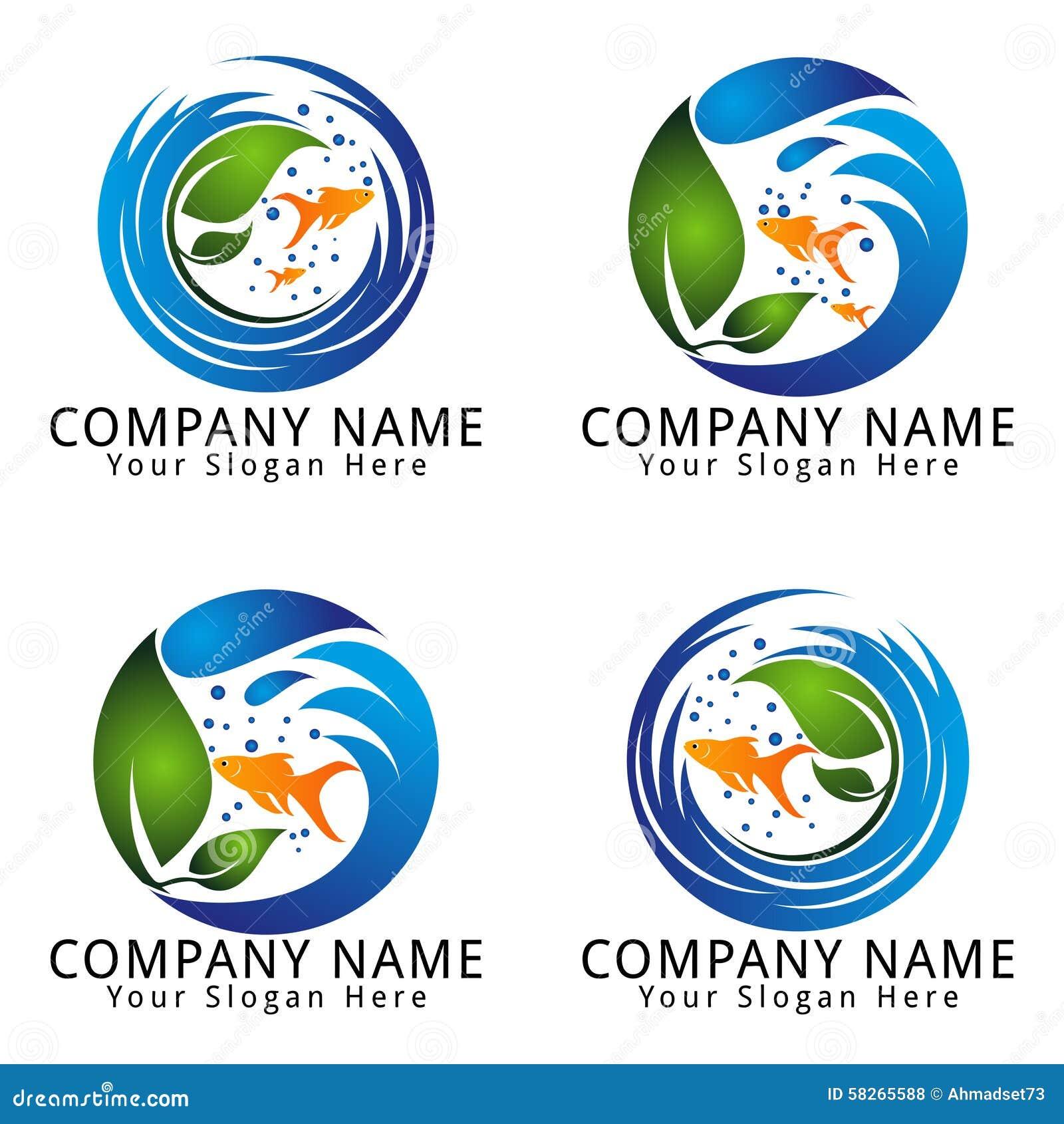 Royalty Free Stock Photos Fish Aquarium Logo Image 58265588