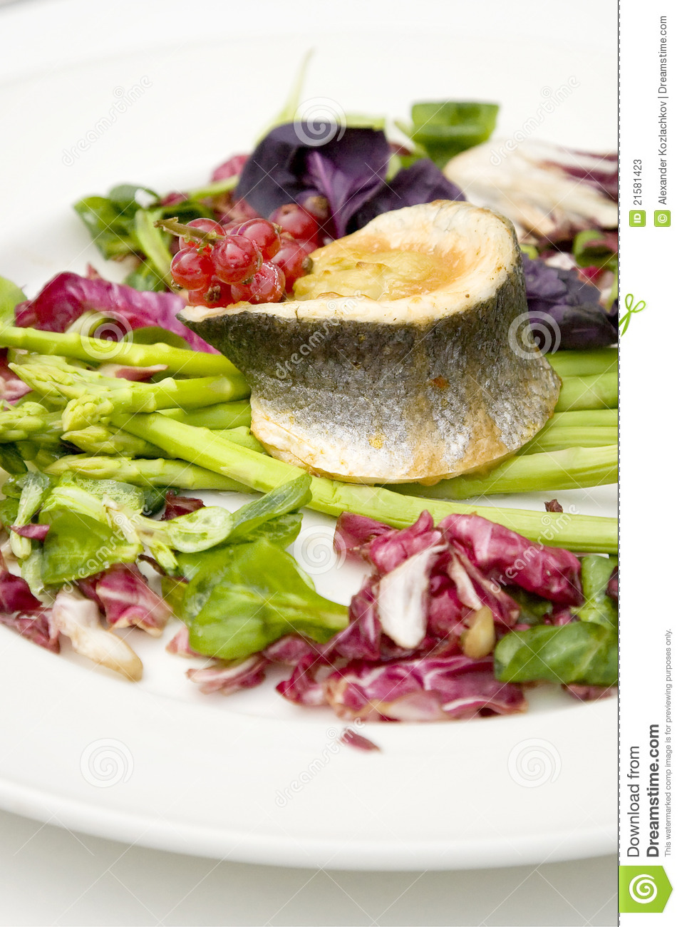Fish and asparagus stock photos image 21581423 for Fish and asparagus