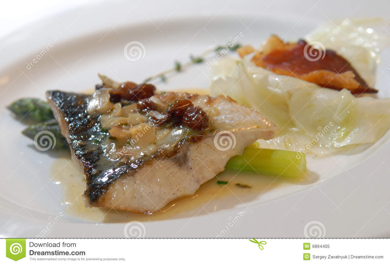 Fish with an asparagus royalty free stock photo image for Fish and asparagus