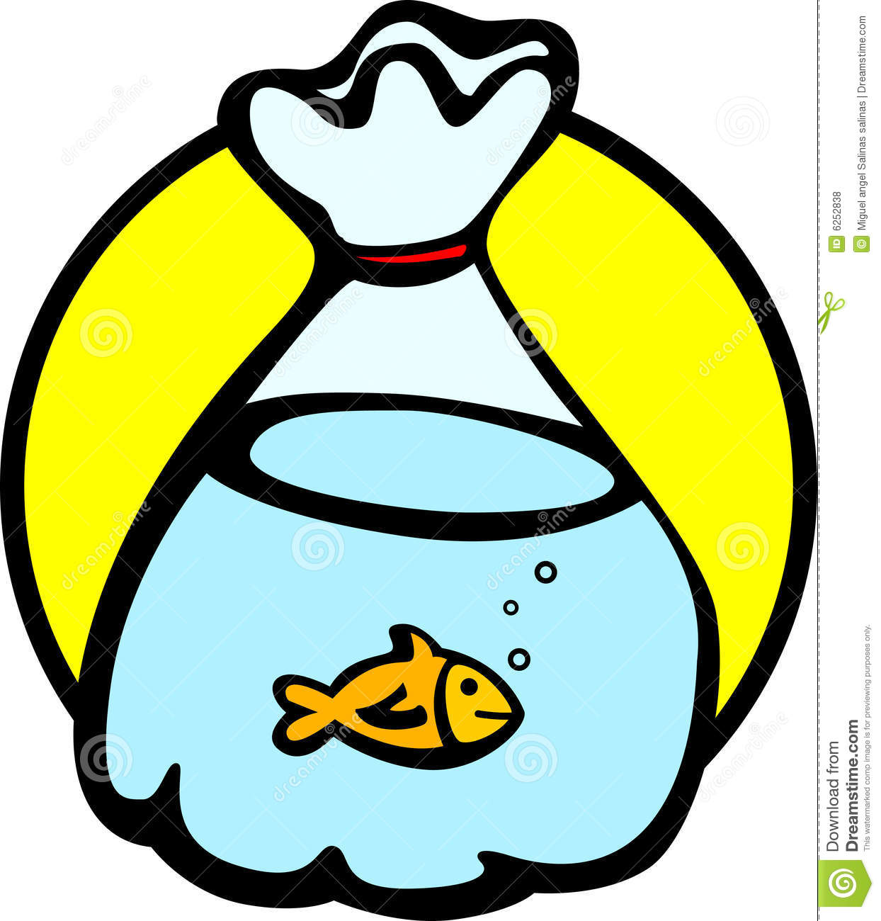 Fish in a bag vector illustration royalty free stock for Fish in a bag