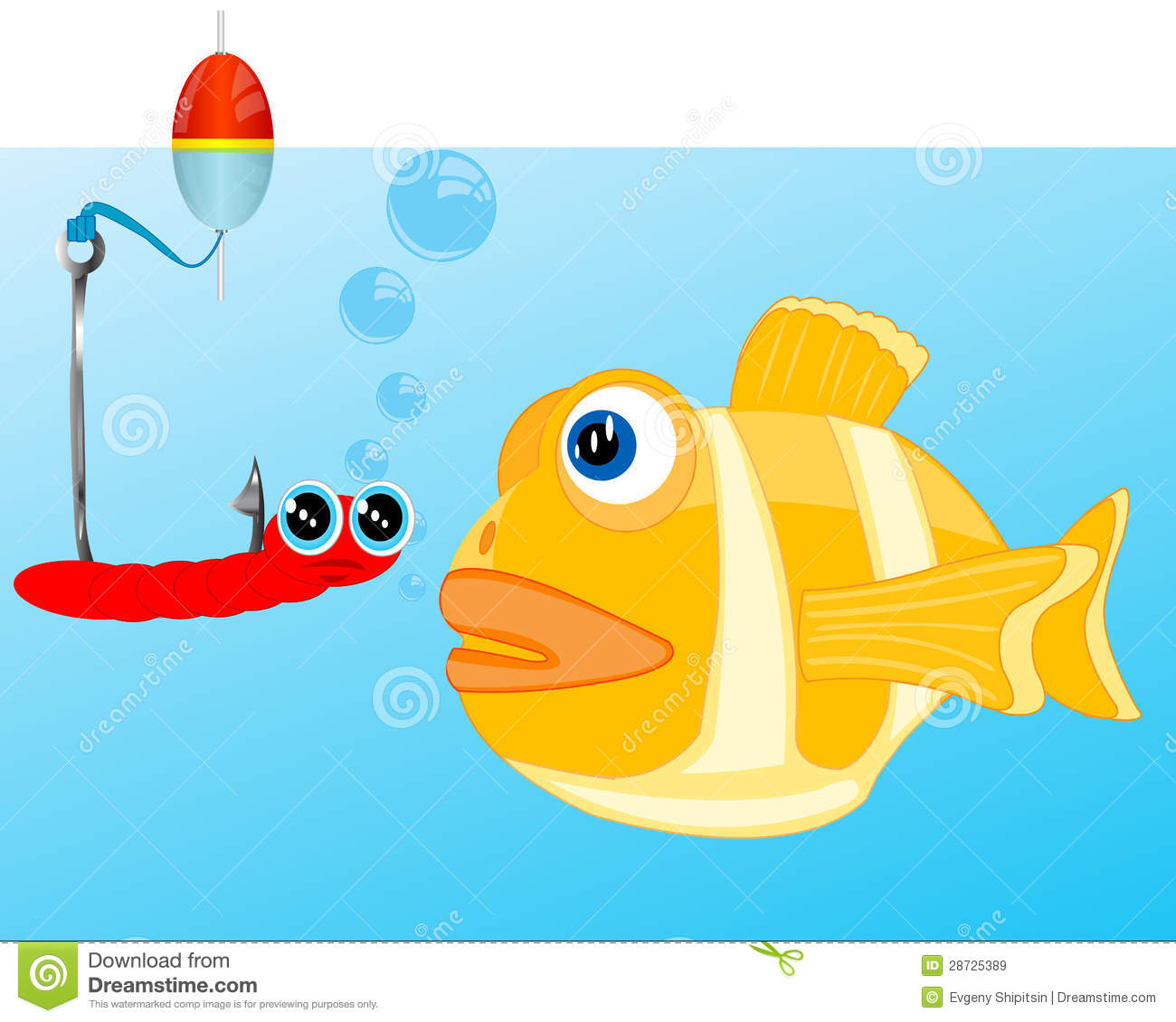 Fish and bait on hook stock vector image of fishing for Fish and hooks