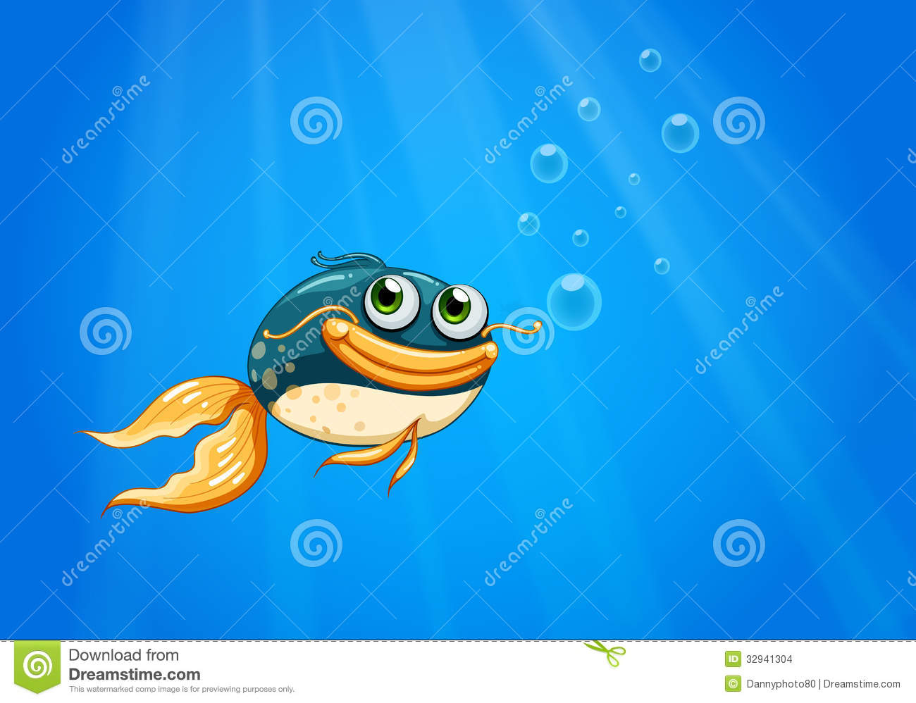 A fish with a big mouth under the ocean stock images for Large ocean fish