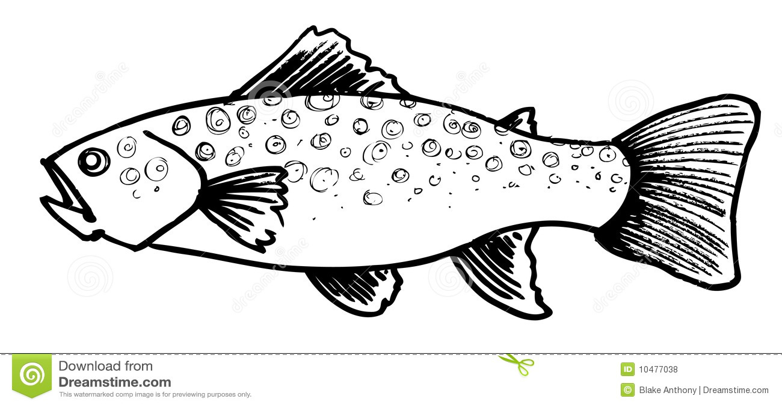 Goldfish clip art black and white