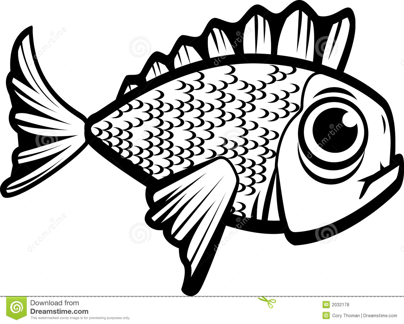 Fish Black And White Royalty Free Stock Photos - Image: 2032178