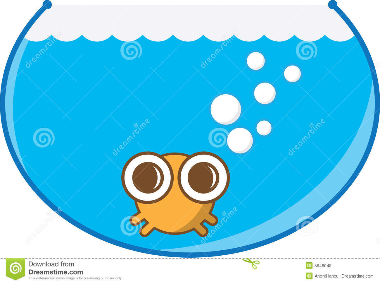 Fish bowl stock vector illustration of pufferfish vector for Fish in a bowl