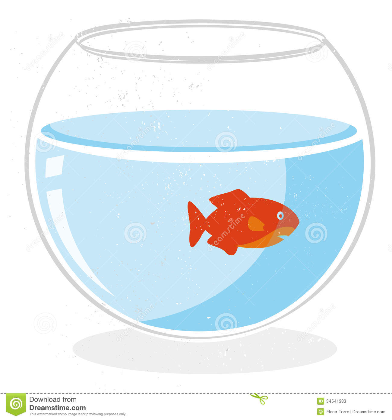 Fish in a bowl vector stock vector illustration of aqua for Fish in a bowl