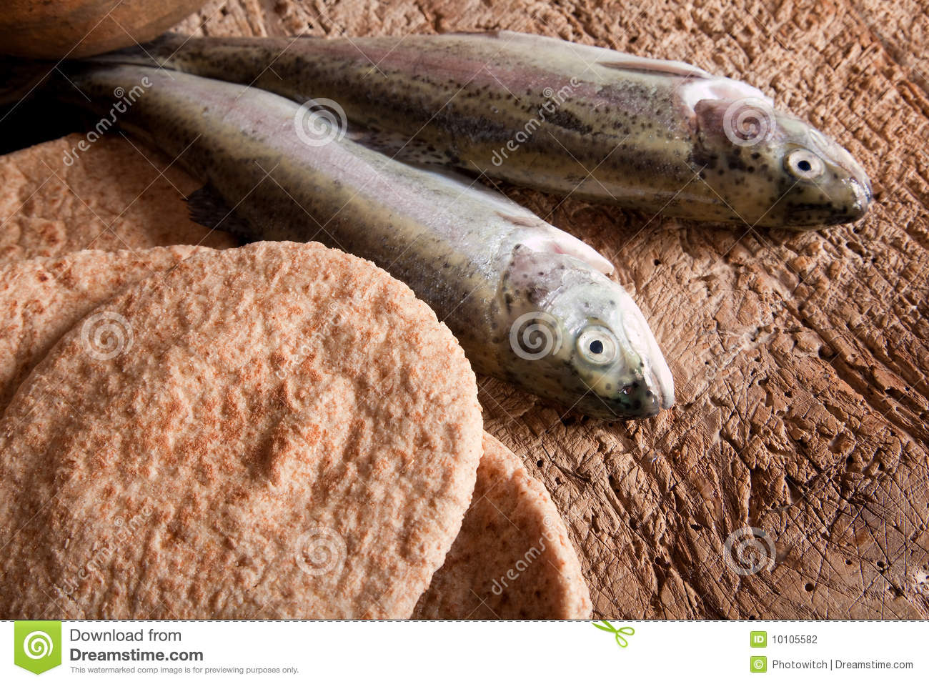 Fish and bread stock photo image of five catch christ for Loaves and fish