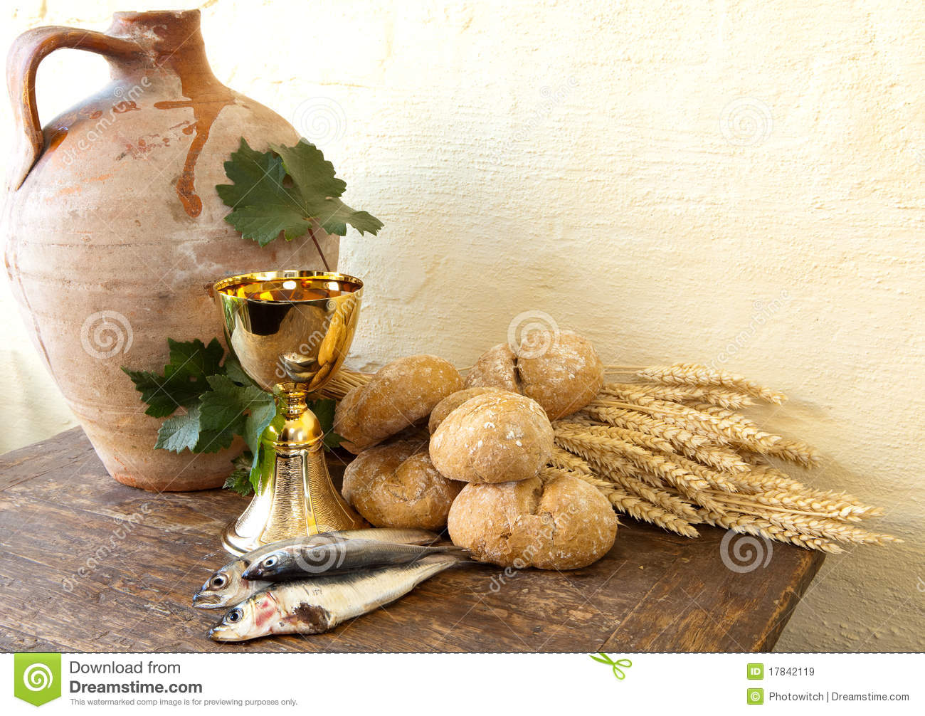 Fish and bread of jesus royalty free stock images image for How to bread fish