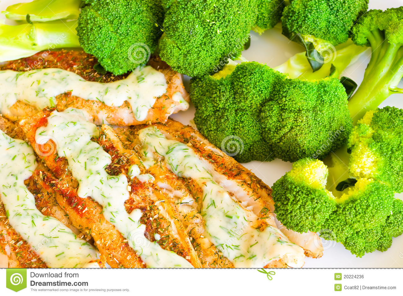 Fish with broccoli royalty free stock image image 20224236 for Fish and broccoli diet