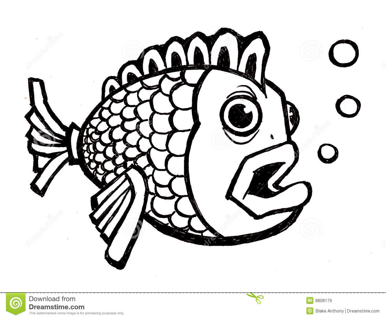Fish With Bubbles Royalty Free Stock Images - Image: 8808179