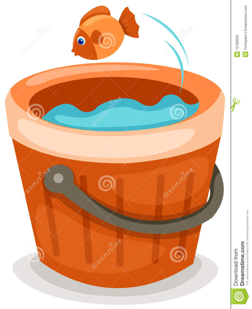 Fish in a bucket royalty free stock image image 15783656 for Bucket of fish
