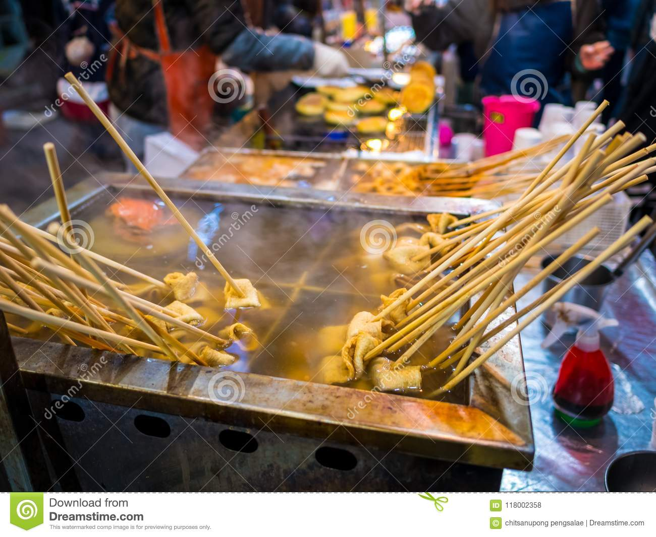 Fish Cake Traditional Korean Food In Local Market Street Food The