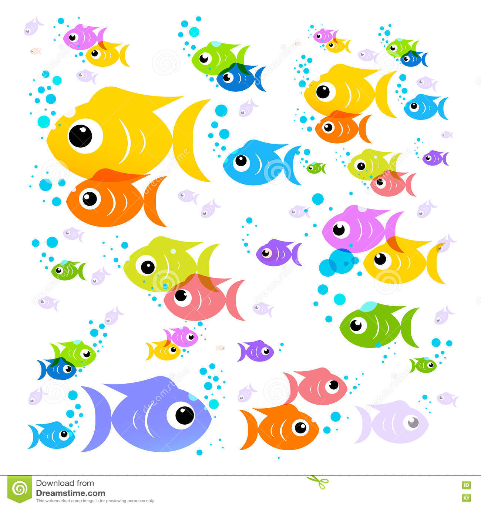 Fish Cartoon Vector Colorful Fish Stock Vector Illustration Of