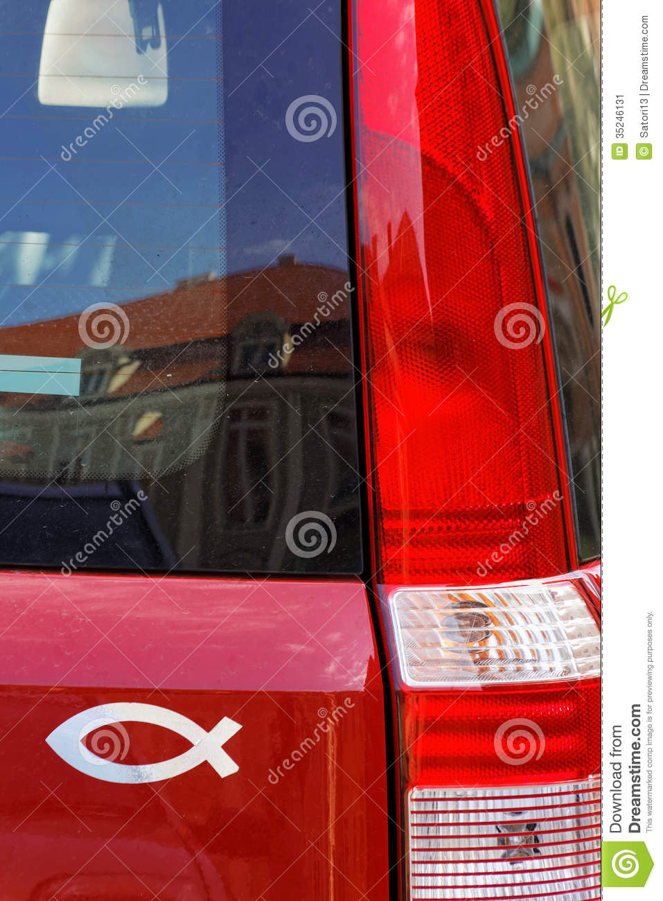 Fish catholic symbol stock image image 35246131 for Fish symbol on cars