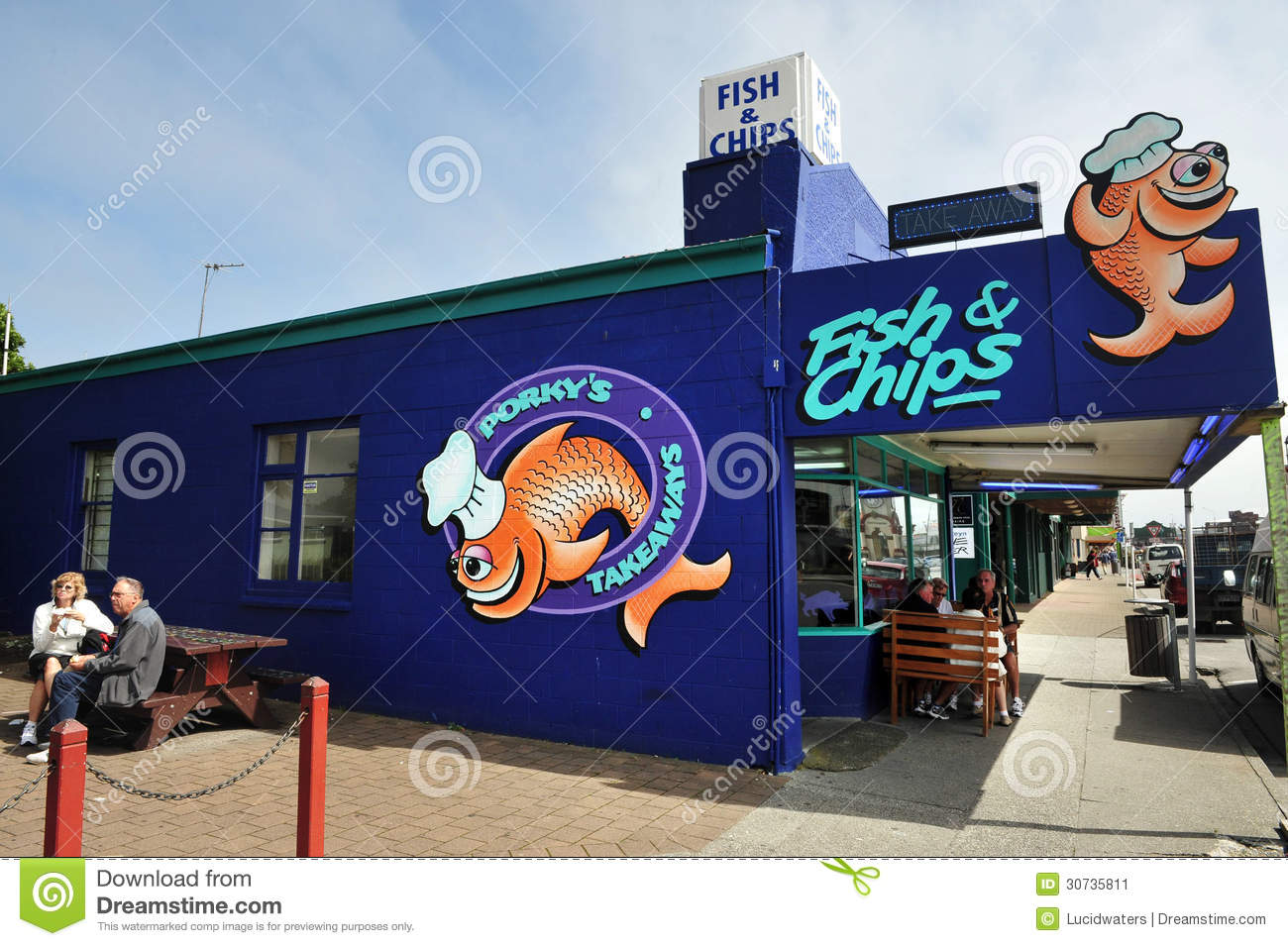 Fish and chip shop in new zealand editorial photo image for The fish shop