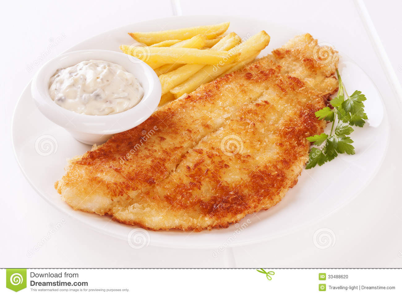 Fish And Chips Stock Photo - Image: 33488620