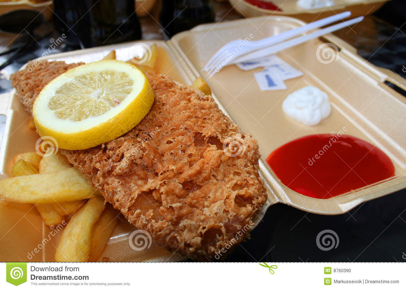 Fish and chips in london stock photo image 8760390 for Fast food fish