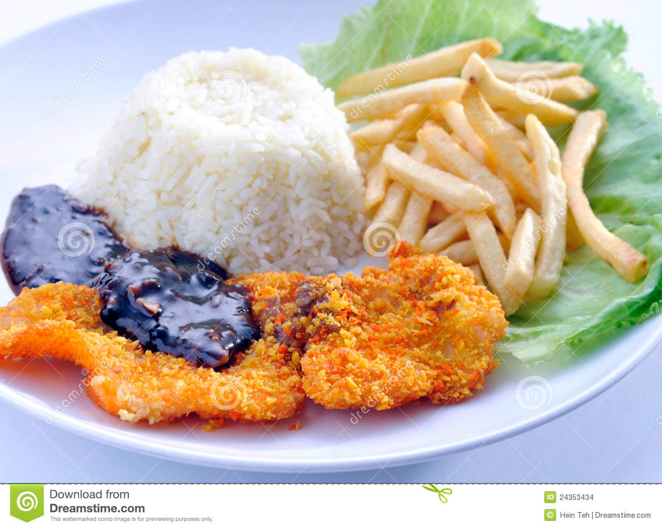 Fish chips with rice stock images image 24353434 for Fish and rice diet