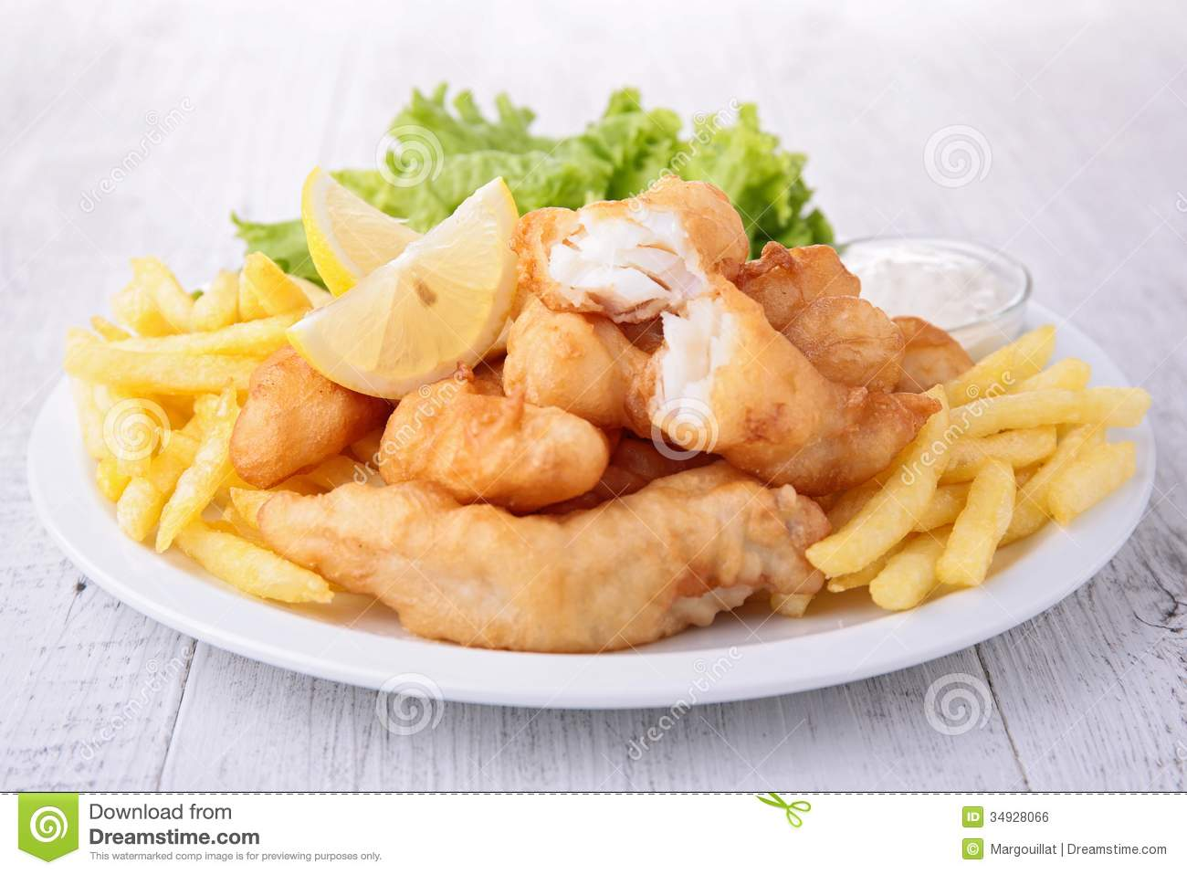 Fish and chips with salad royalty free stock image image for Fish and salad