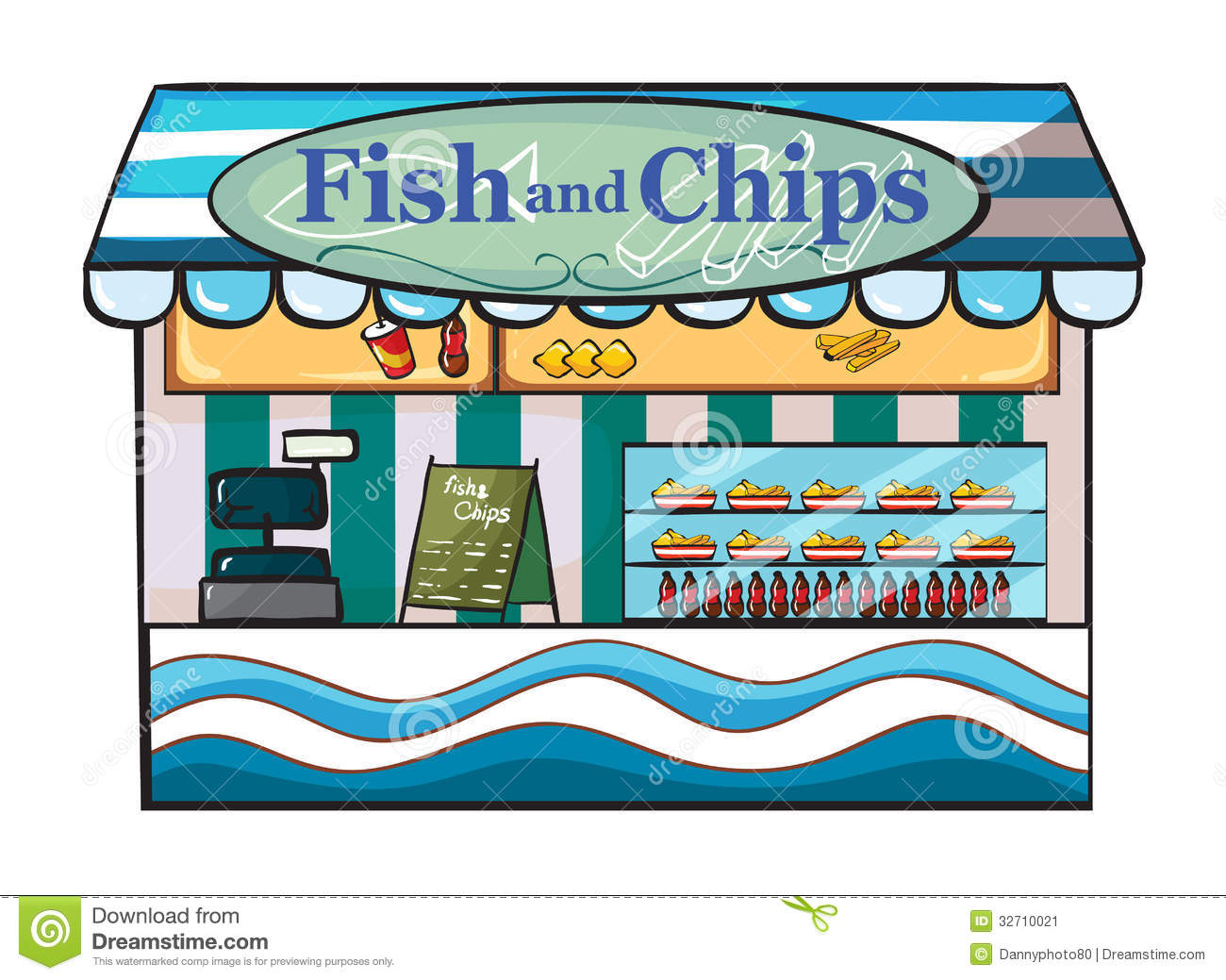 A Fish And Chips Shop Stock Image - Image: 32710021