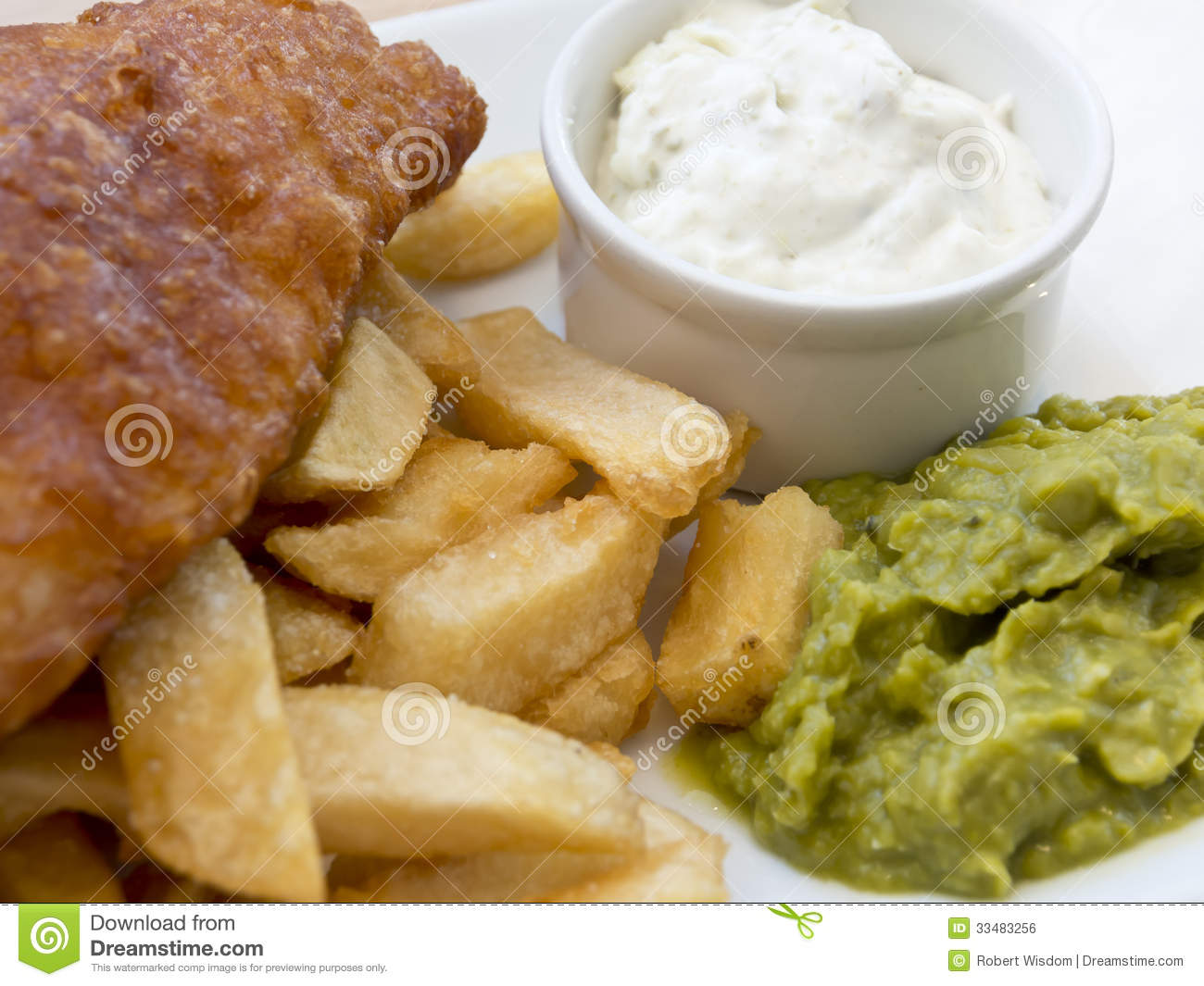 Fish Chips And Tartare Sauce Royalty Free Stock Image - Image ...