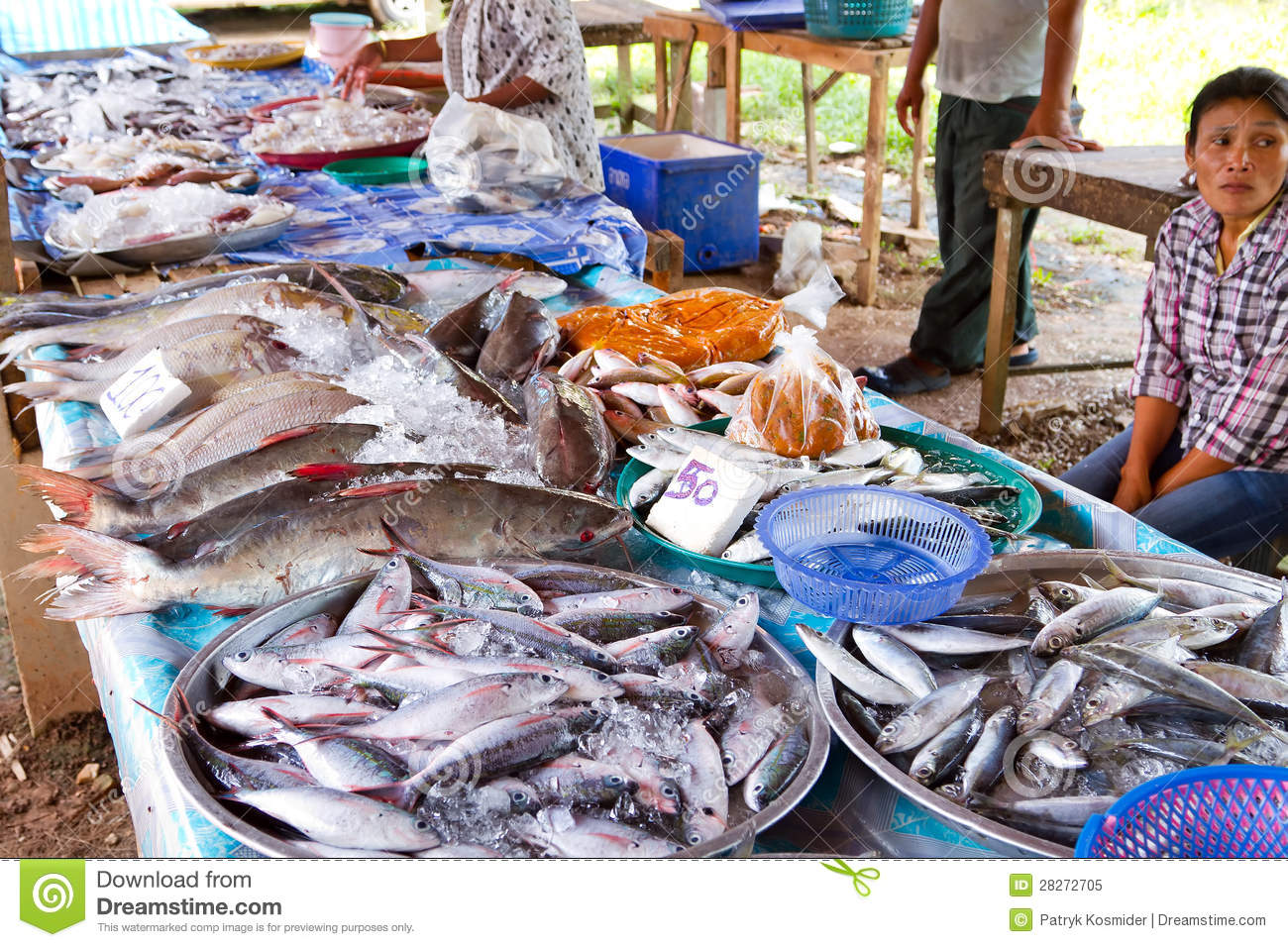 Fish choice on the local market in khao lak editorial for Local fish market