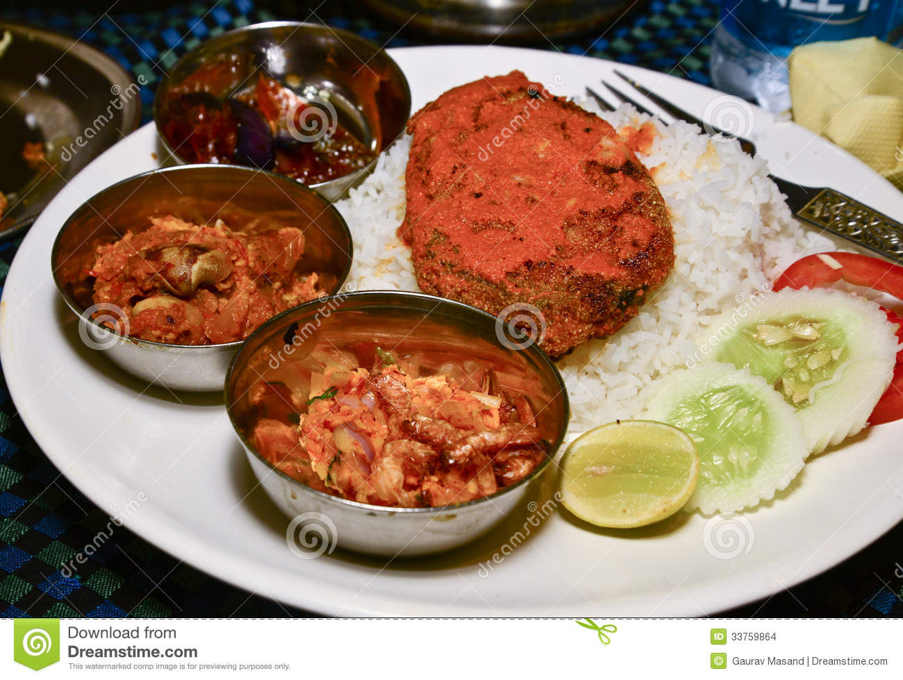 Fish curry and rice stock images image 33759864 for Rice side dishes for fish