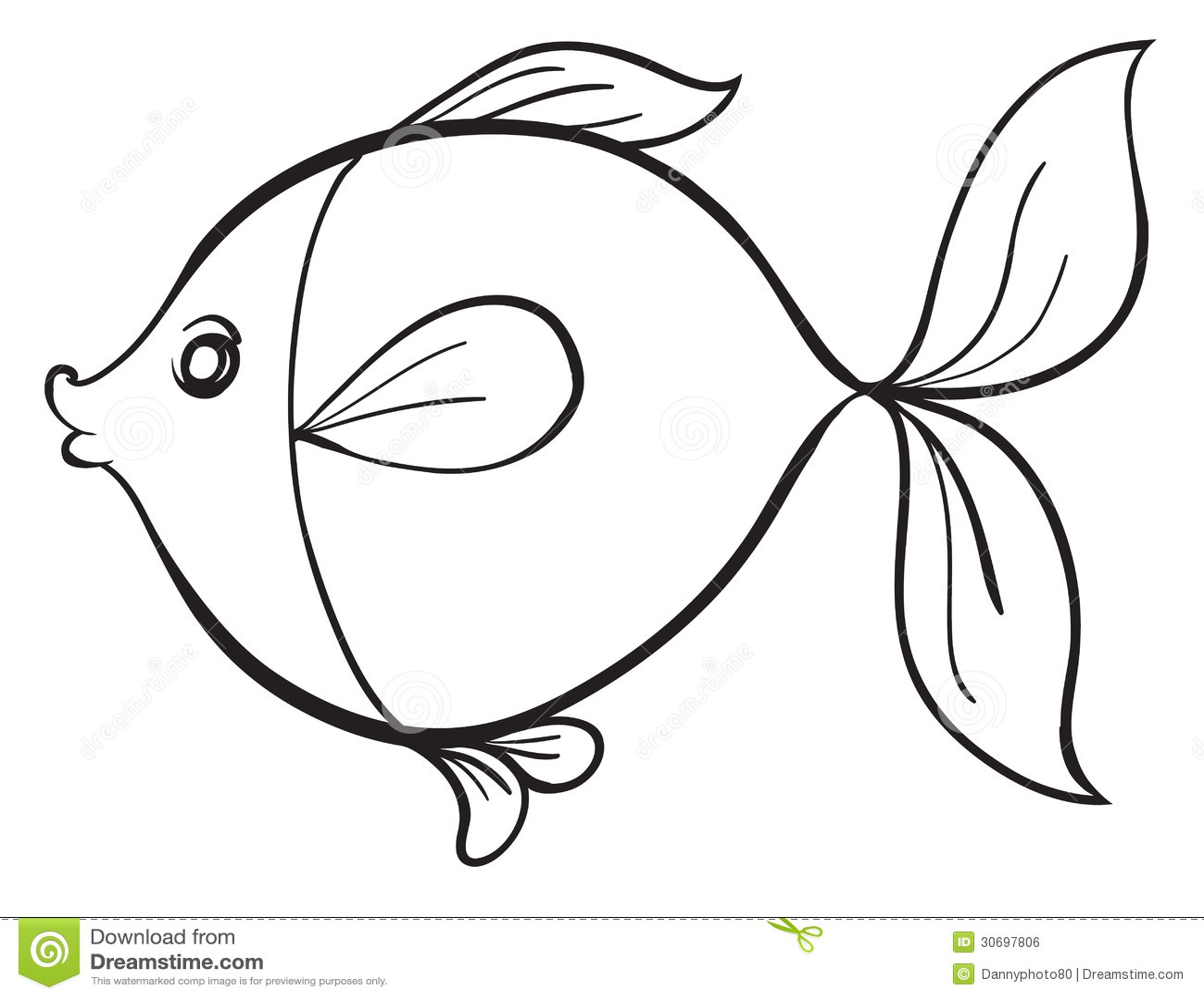Line Art Of Fish : Fish royalty free stock image