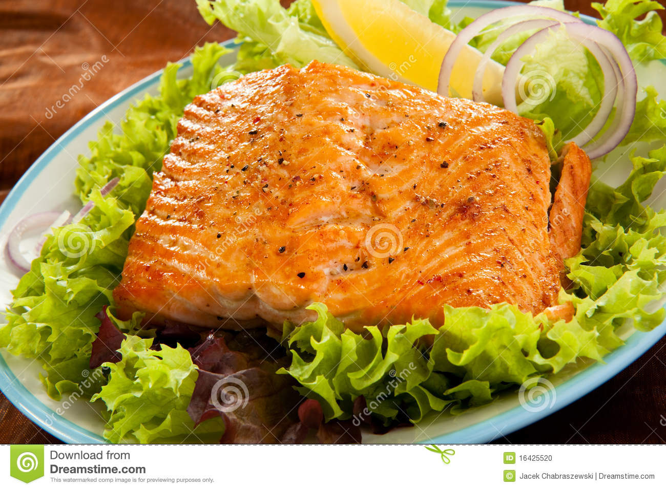 Fish dish stock photo image 16425520 for What to eat with fried fish