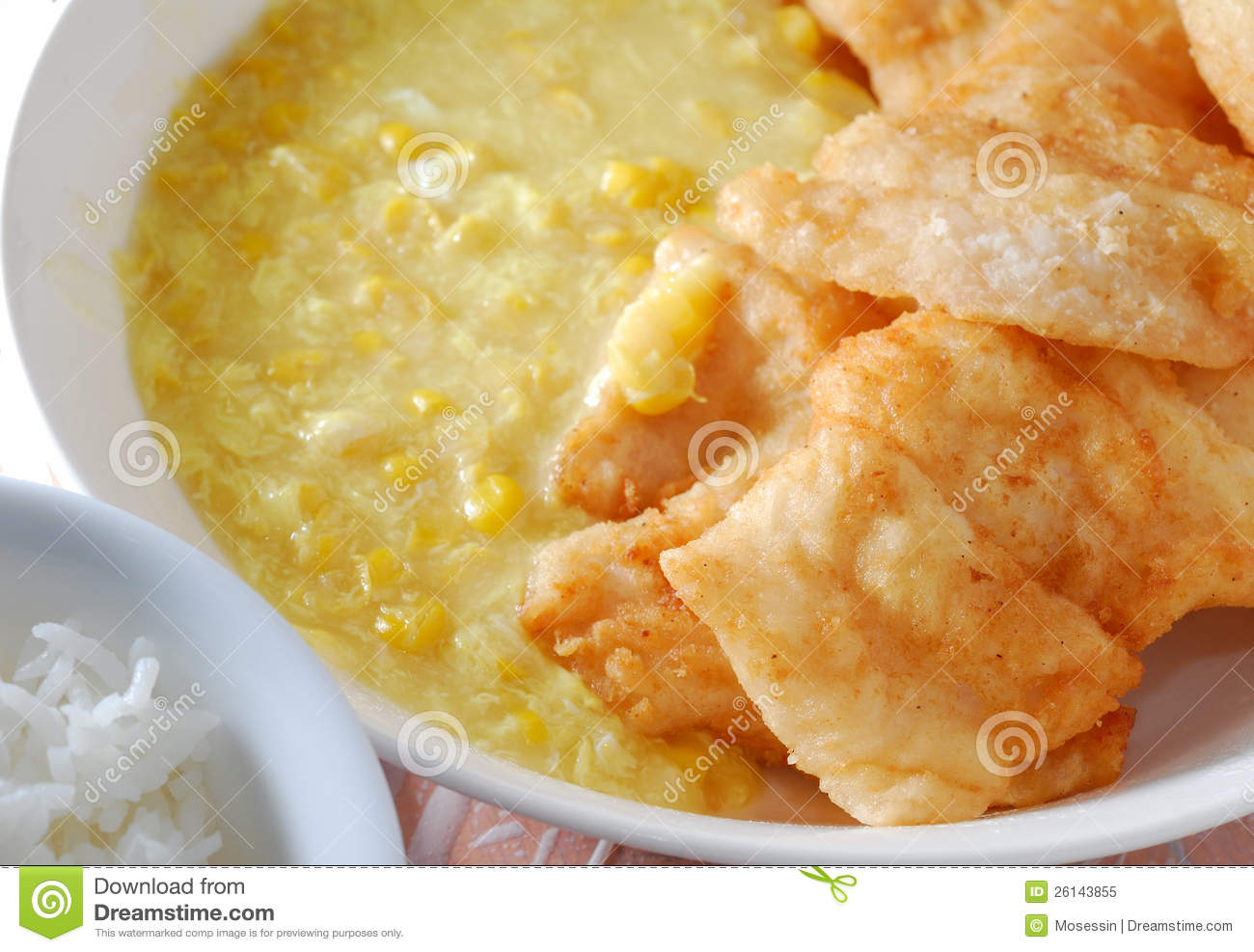 Fish fillet creamed sauce royalty free stock photo image for Fish fillet sauce