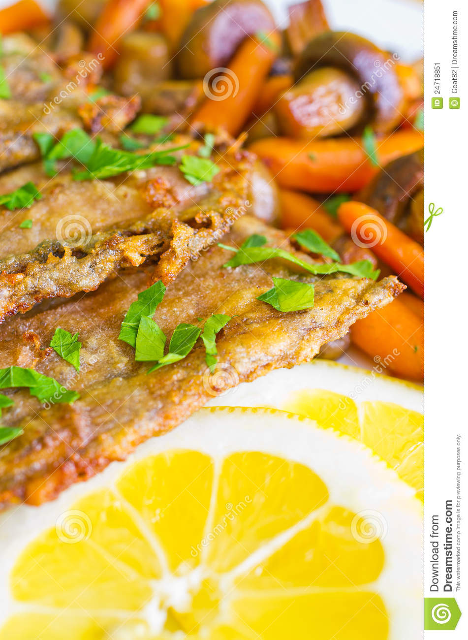 Fish fillets with vegetables stock image image 24718851 for What vegetables go with fish