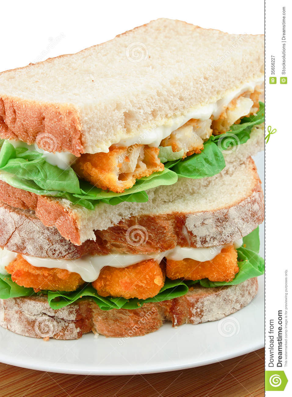 Fish finger sandwich detail royalty free stock photography for Fish stick sandwich
