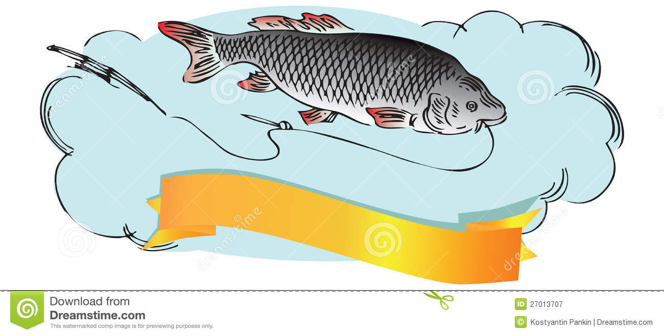 Fish with fishing line royalty free stock photography for Free line fishing