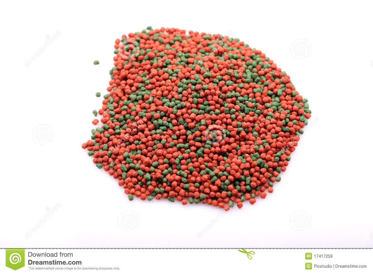 Download Fish food granules stock image. Image of color, isolated - 17417259