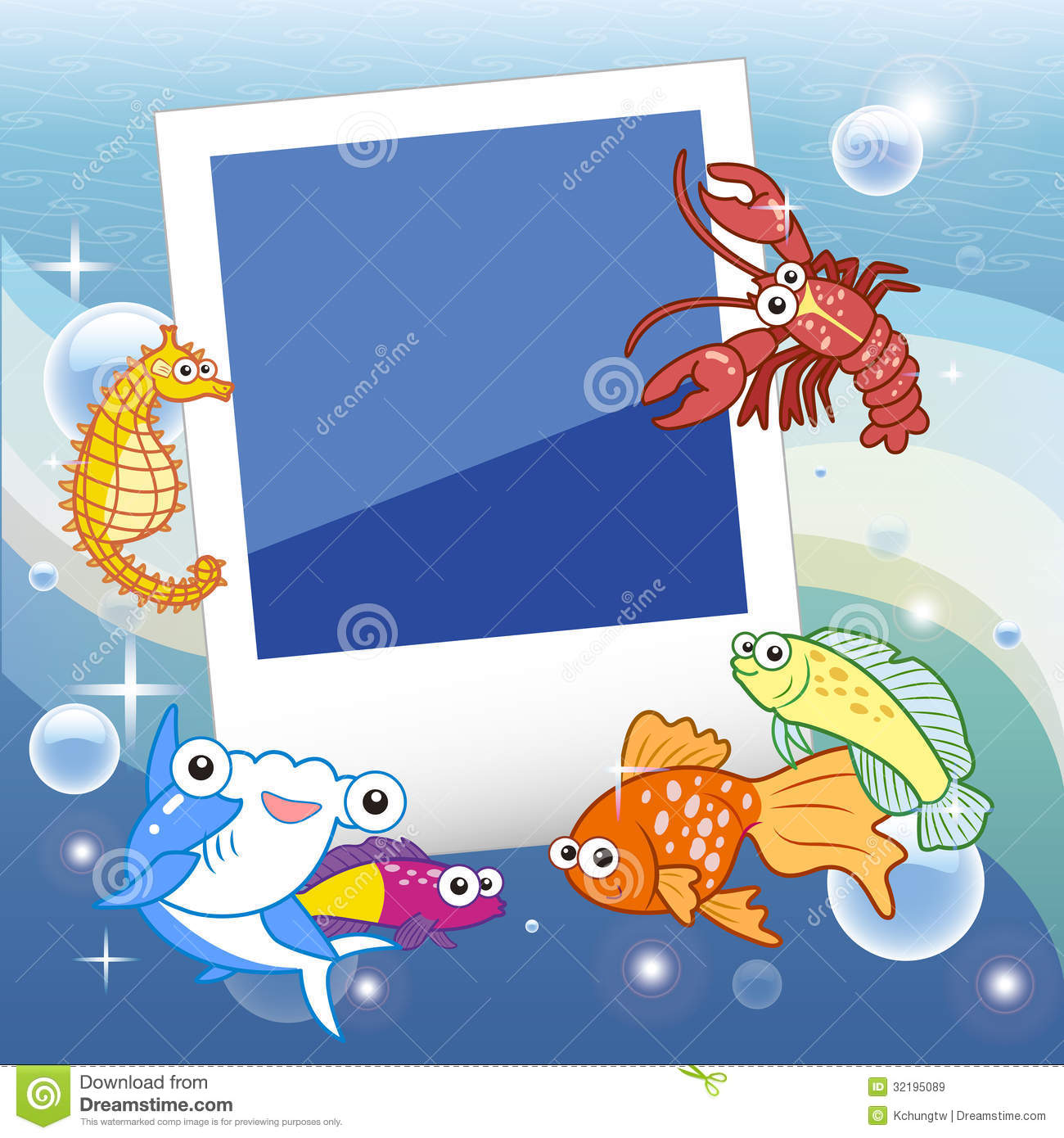 fish frame royalty free stock images image 32195089
