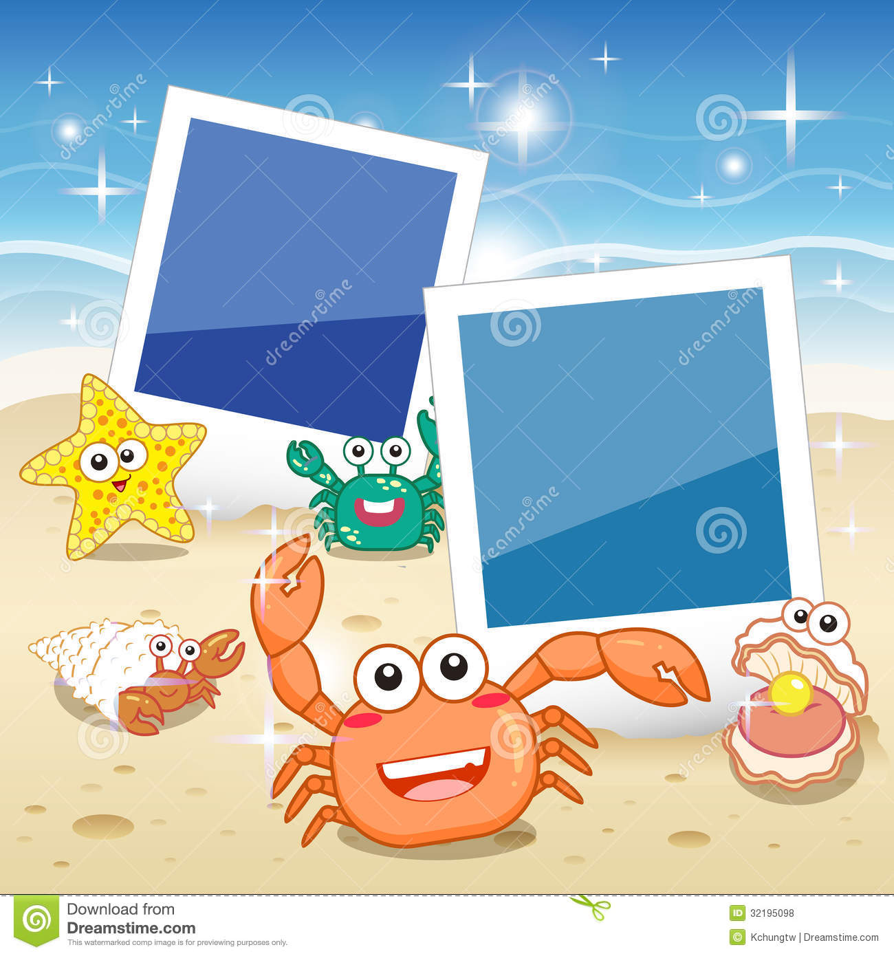 Fish frame royalty free stock photos image 32195098 for Fish photo frame