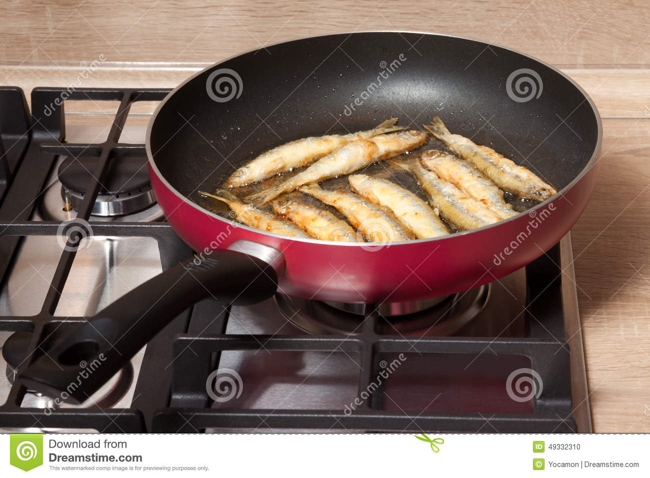 Fish is fried in a pan stock photo image of food fish for Best fish to pan fry