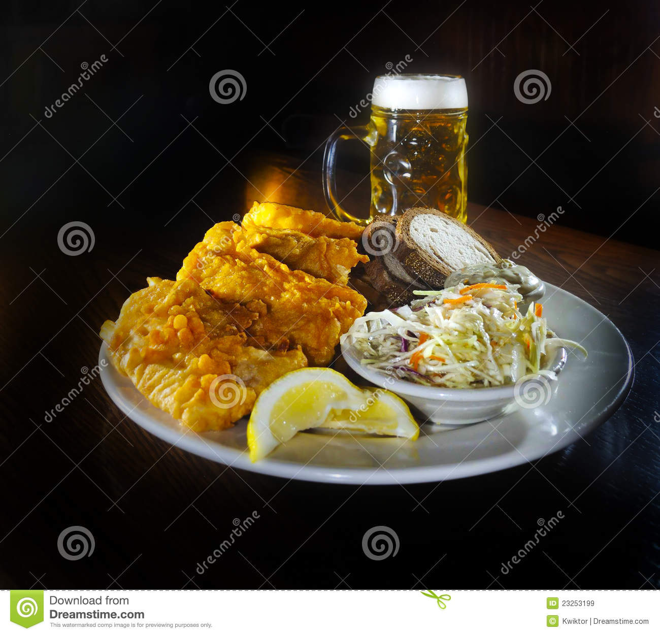fish fry and beer stock image image of bowl meal