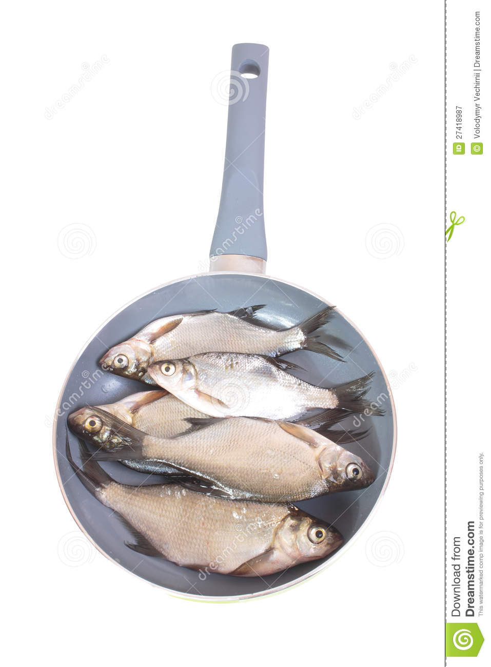 Fish fry in a frying pan royalty free stock photography for Best fish to pan fry