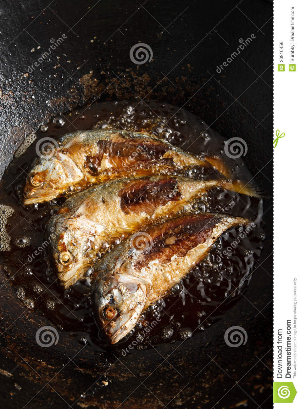 Fish frying in hot oil royalty free stock image image for Best oil for frying fish