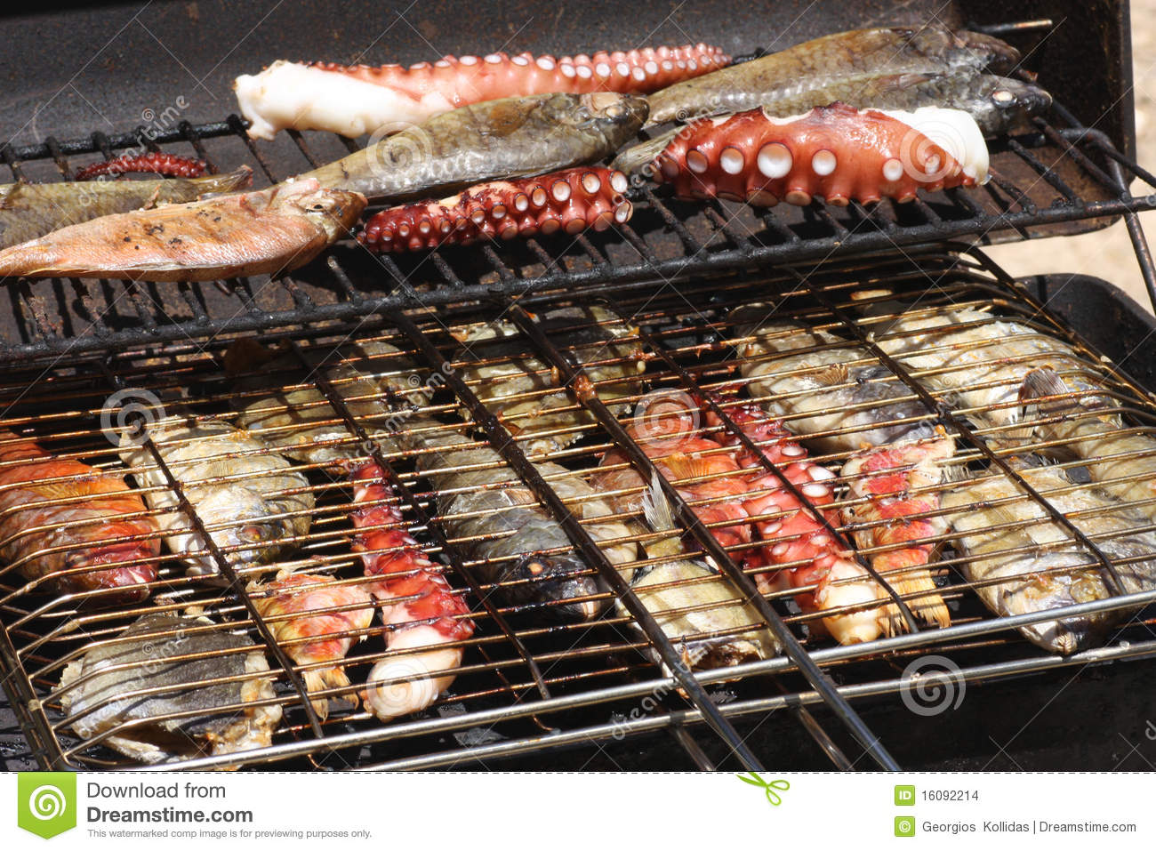 Fish on grill stock photo image of meal fresh aromatic for Cooking fish on the grill