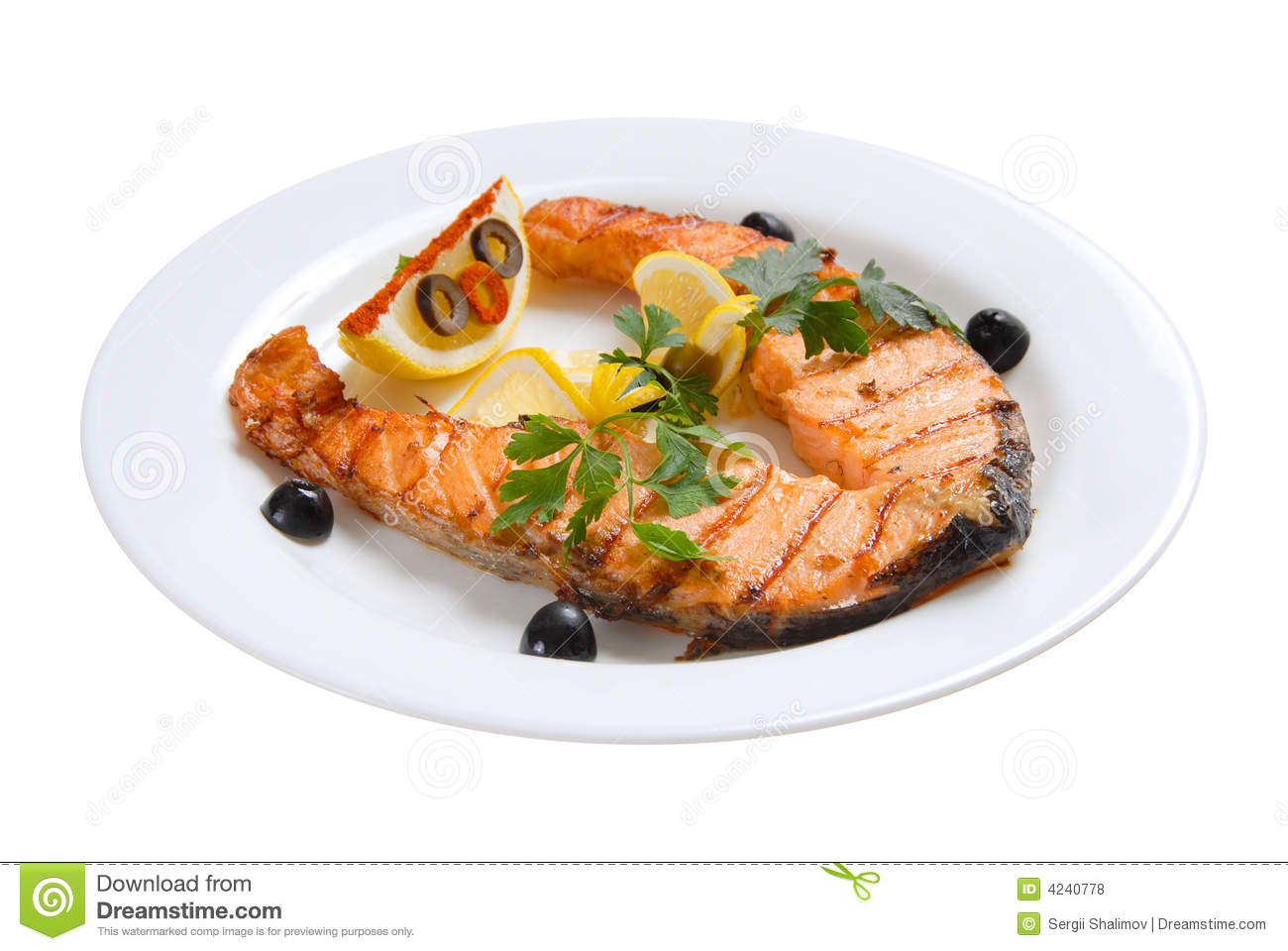 Fish Grill Royalty Free Stock Photos - Image: 4240778