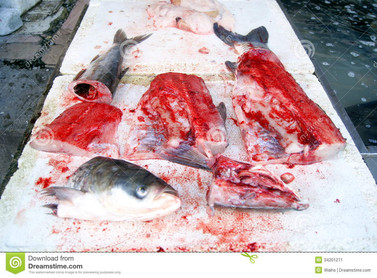 Fish heads and fish meat stock image image 34201271 for Is fish considered meat