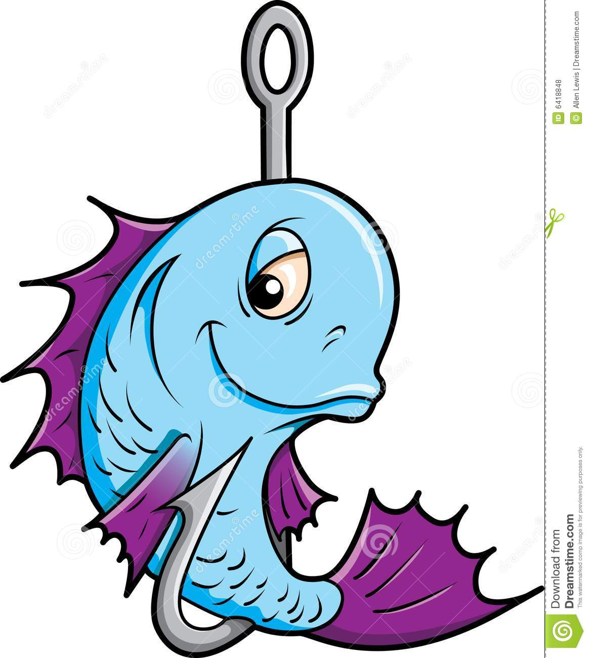 Fish On A Hook. Royalty Free Stock Photos - Image: 6418848