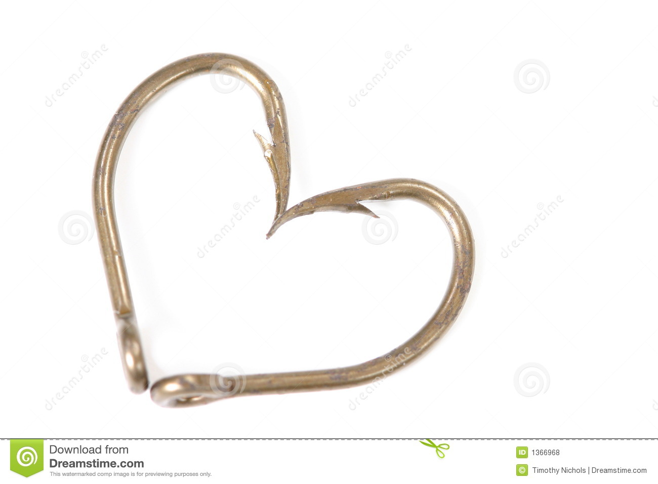 Fish hook heart royalty free stock photos image 1366968 for Pictures of fishing hooks