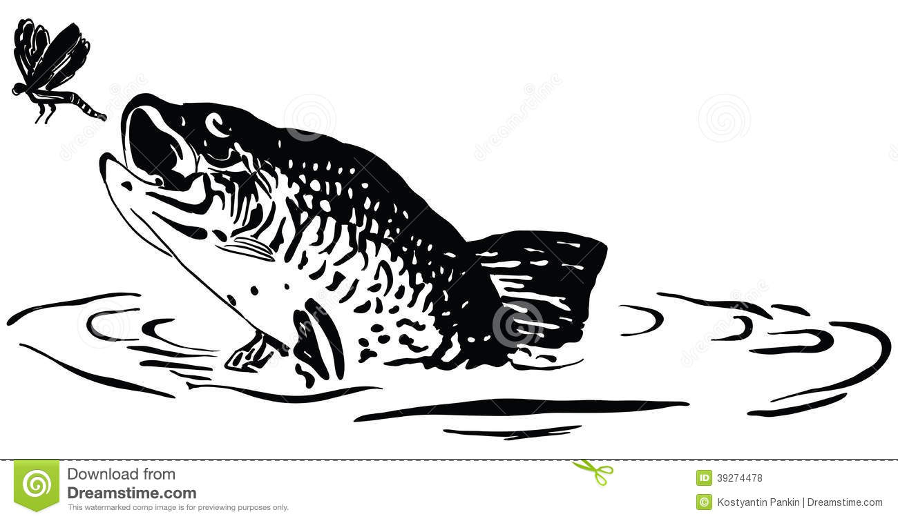 Fish hunts worm vector illustration vector illustration for Dream about fish out of water